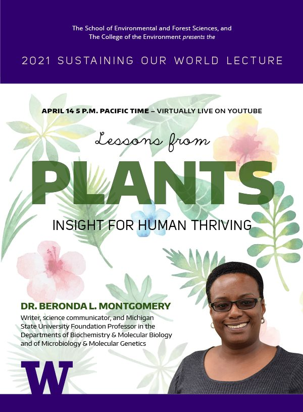 Sustaining Our World lecture poster